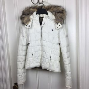 Abercombie & Fitch down puffer jacket with hood